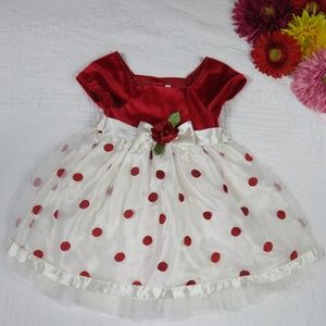 Youngland sz 4 party formal dress red velvet